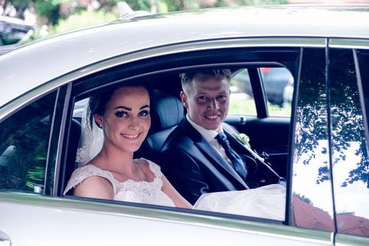 Brautpaar, Wagen, Limousine