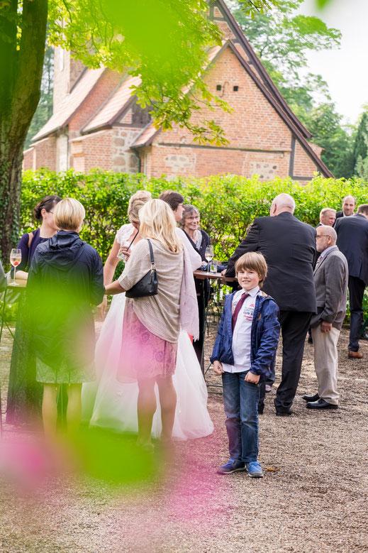 Hochzeitsempfang, Reportage einer Hochzeit