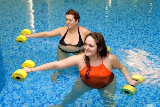Physiotherapie im Wasser im Therapiezentrum Waldheim und Waldhausen