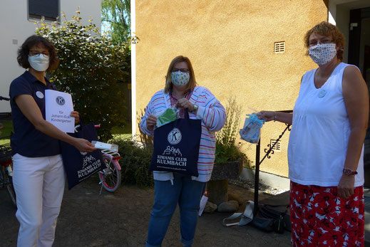 Auch im Johann-Eck-Kindergarten wurden Masken überreicht.