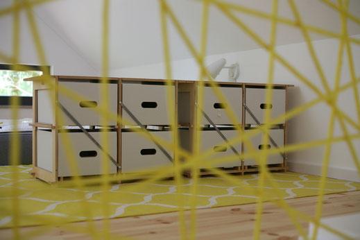 Treppengeländer Tauwerk modern Ferienhaus Schlafgalerie