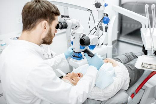 Wurzelbehandlung mit zahnärztlichem Mikroskop, gute Wurzelbehandlung St. Leon-Rot