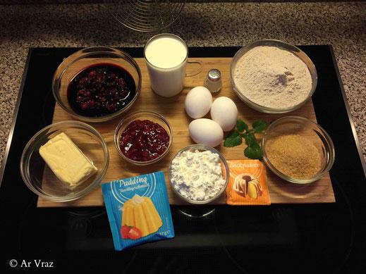 Buchweizen Butter Stärke Zucker Eier Milch Waffelzutaten