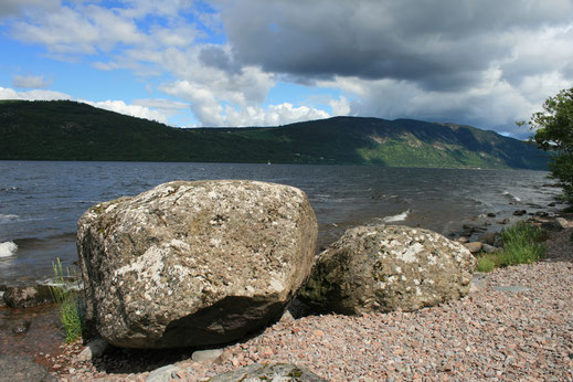 Light and shadow on Loch Ness