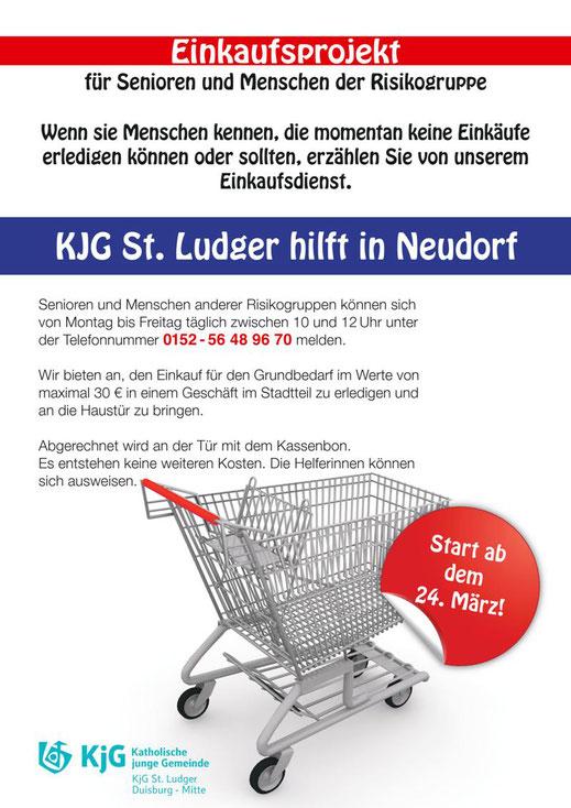 Plakat Einkaufsprojekt Neudorf