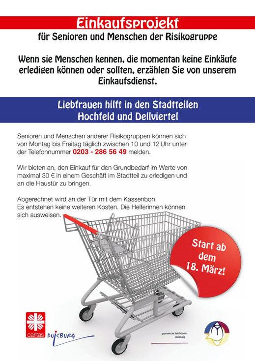 Plakat Einkaufsprojekt Hochfeld / Dellviertel