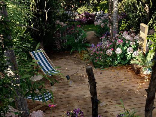 aménagement paysagiste petit jardin de ville