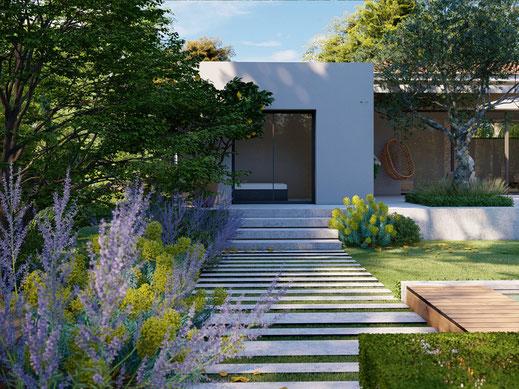 Architecte paysagiste jardin Aix en Provence