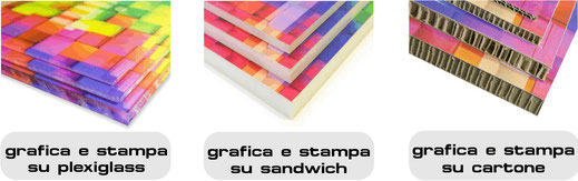 DADE professional consult Bolzano grafica e stampa su plexiglass sandwich communication cartone