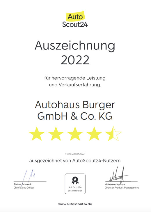 Verkaufsteam von Autohaus Burger