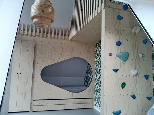 meubelmaker kast op maat rotterdam glenn ederveen kinderkamer klimmuur  interieur