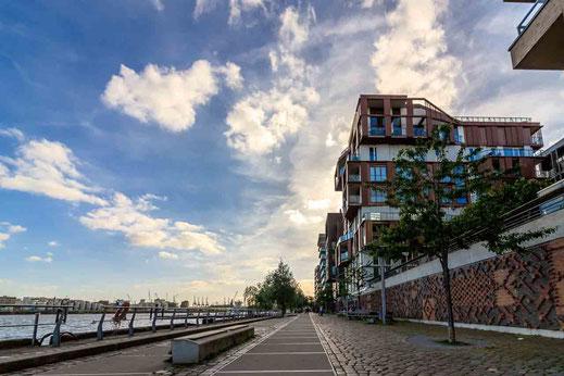 Gebaeude Architektur Weg Linie Hamburg Hafencity
