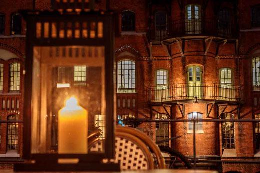 Hamburg Speicherstadt Kerze Kerzenlicht