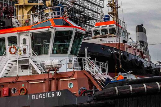 Schlepper Hafenschlepper Blohm Voss Werft Reparatur Bugsier Hamburg Hafen