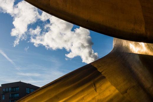 Schiffsschraube Museum Himmel Blau Dampf Hamburg Maritimes Museum