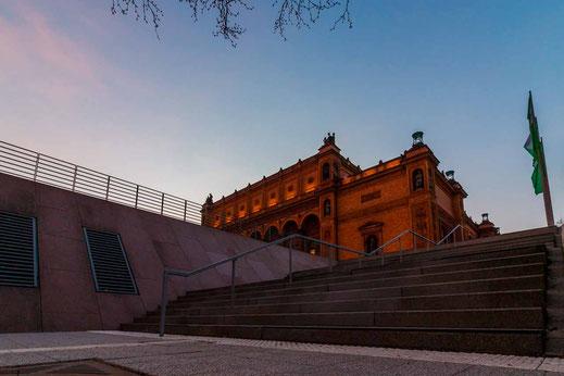 Museum Hamburg Treppen Sonnenaufgang