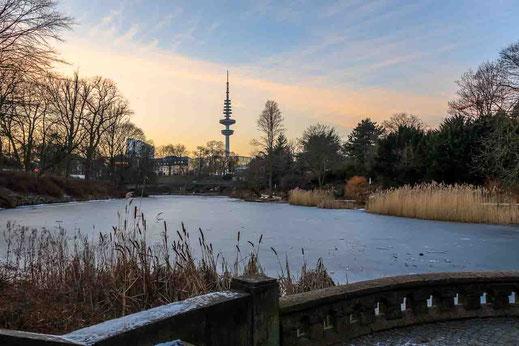 Planten un Blomen Telemichel Eis Treppe Hamburg