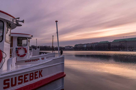 Anleger Binnenalster Susebek Weisse Flotte