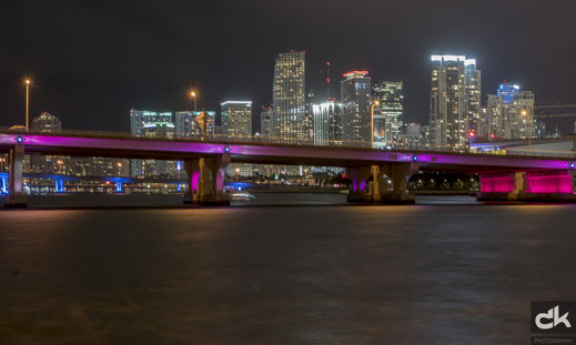 Skyline Miami Downtown by night (Leica, März 2017)