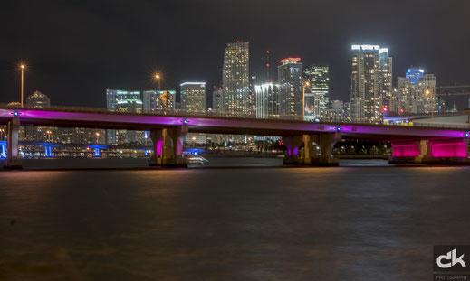Skyline Miami Downtown by night (Leica, März 2017)