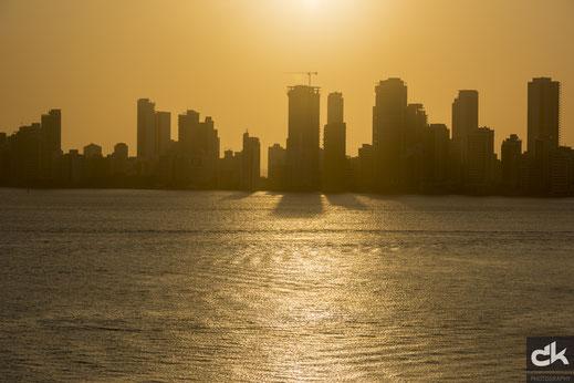 Sonnenuntergang über der Neustadt von Cartagena