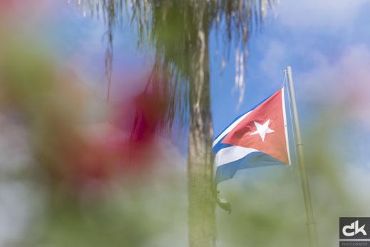 Die Nationalflagge von Kuba