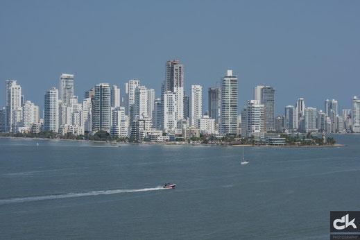 Die Skyline der Neustadt von Cartagena