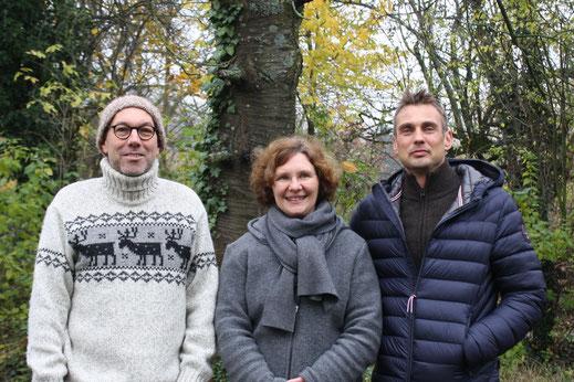 Aktueller Vorstand von links nach rechts:  Michael Kühlen (2. Vorstand) , Dagmar Schülke (1. Vorstand) und André Siepe (Schatzmeister)