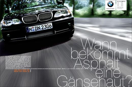 Art Direktion BMW 3er Facelift Kampagne ADC Auszeichnung Fotografie