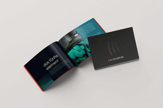 Literatur, Produktbroschüre Design: Audio Factory Media. Sonicsense, von Andreas Ruthemann