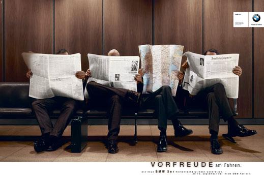 Art Direktion BMW 5er Facelift Kampagne Teaser Landkarte