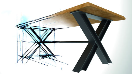 Designer Tisch aus Vorlage