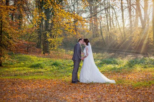verliefd, bruid en bruidegom, zonneharpen, bruidspaar