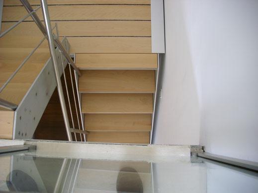 designtrap aluminium frame houten tredes