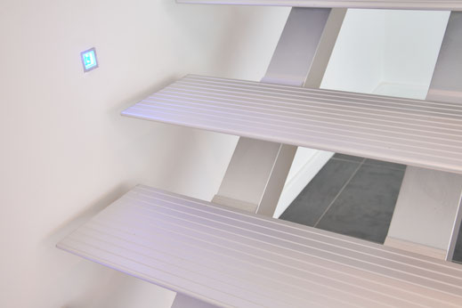 strakke designtrap Triangle aluminium