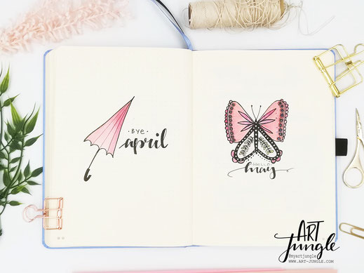 bullet journal hello may cover