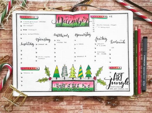 Bujo Deecember Weeklyspread Christmastree