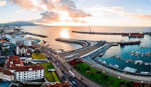 Hafen Ponta Delgada, Azoren