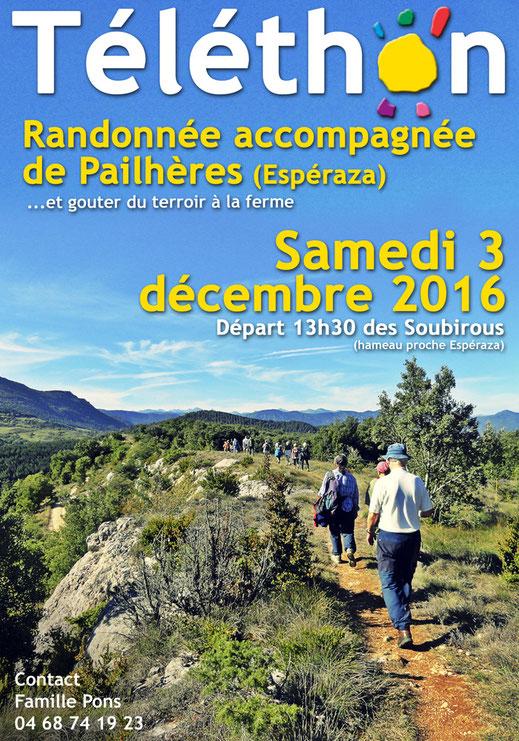 Rando Téléthon Pailhères 2016