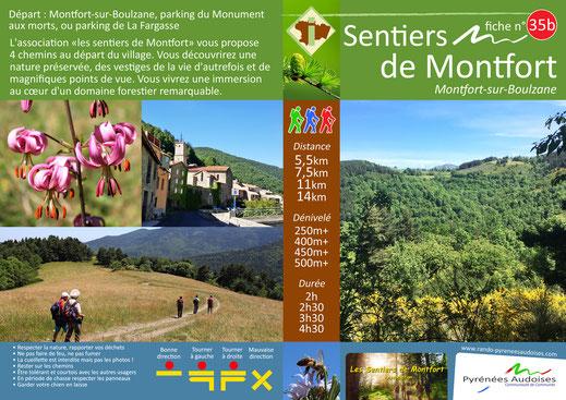 fiche rando Sentiers de Montfort - Pyrénées Audoises