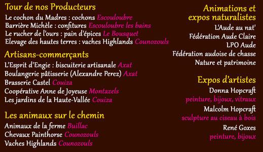 Producteurs Tour des Villages en Pyrénées Audoises 2019
