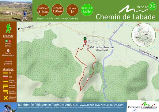 Fiche rando Chemin de Labade