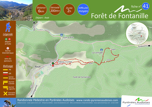 Fiche rando Forêt de Fontanilles