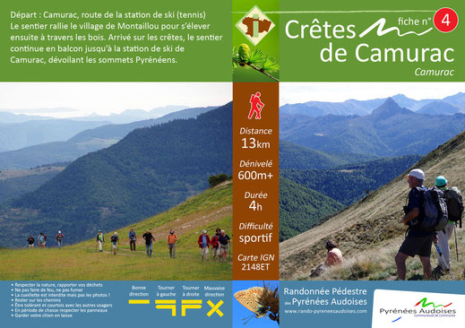 Crêtes de Camurac - Randonnées Pyrénées Audoises