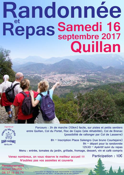 Randonnée et repas - septembre 2017 - Quillan