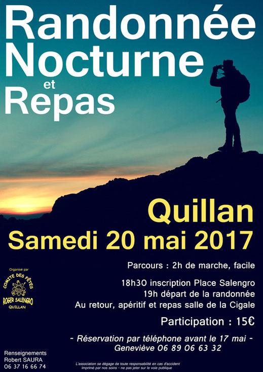 Randonnée nocturne - Quillan