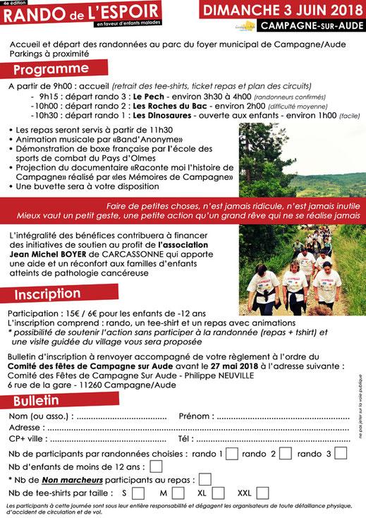 Rando de l'Espoir - Campagne sur Aude