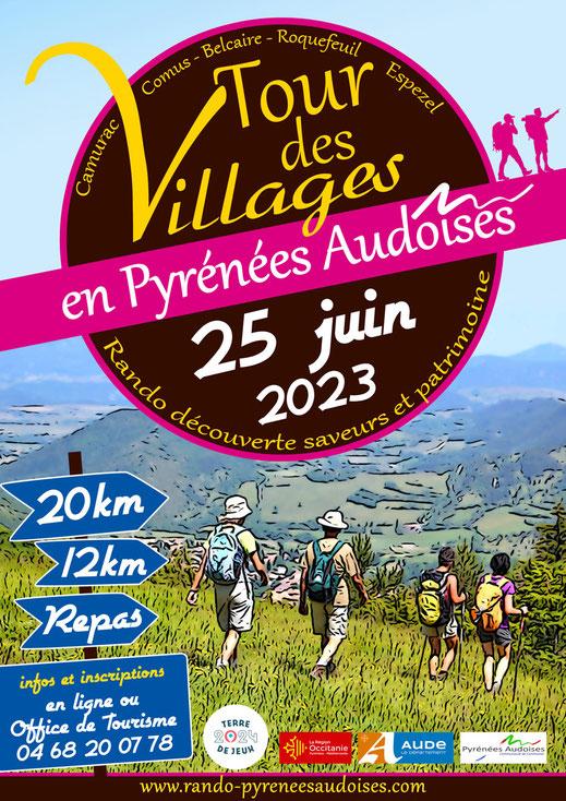 Tour des Villages en Pyrénées Audoises 2019
