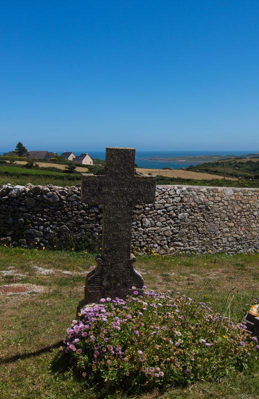 Friedhof von Saint-Germain-des-Vaux auf dem Cotentin in der Normandie
