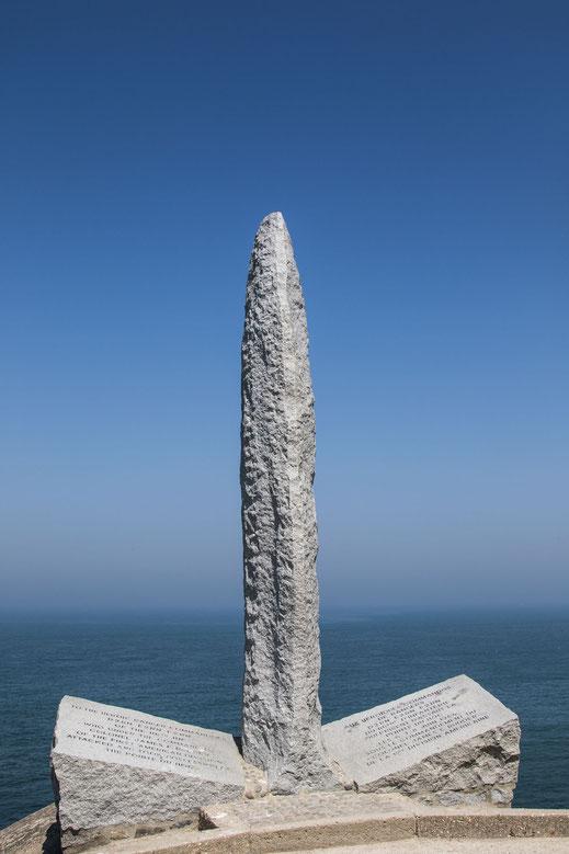 Pointe du Hoc an der Landungsküste in der Normandie.
